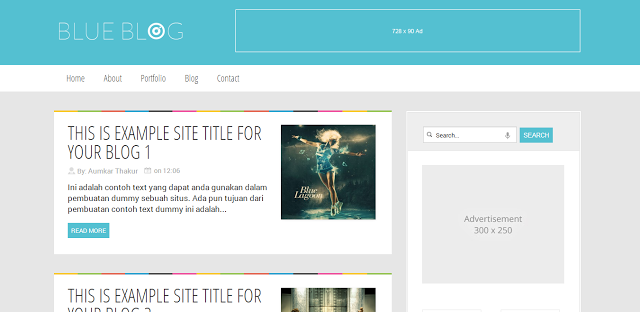Template Blue Blog