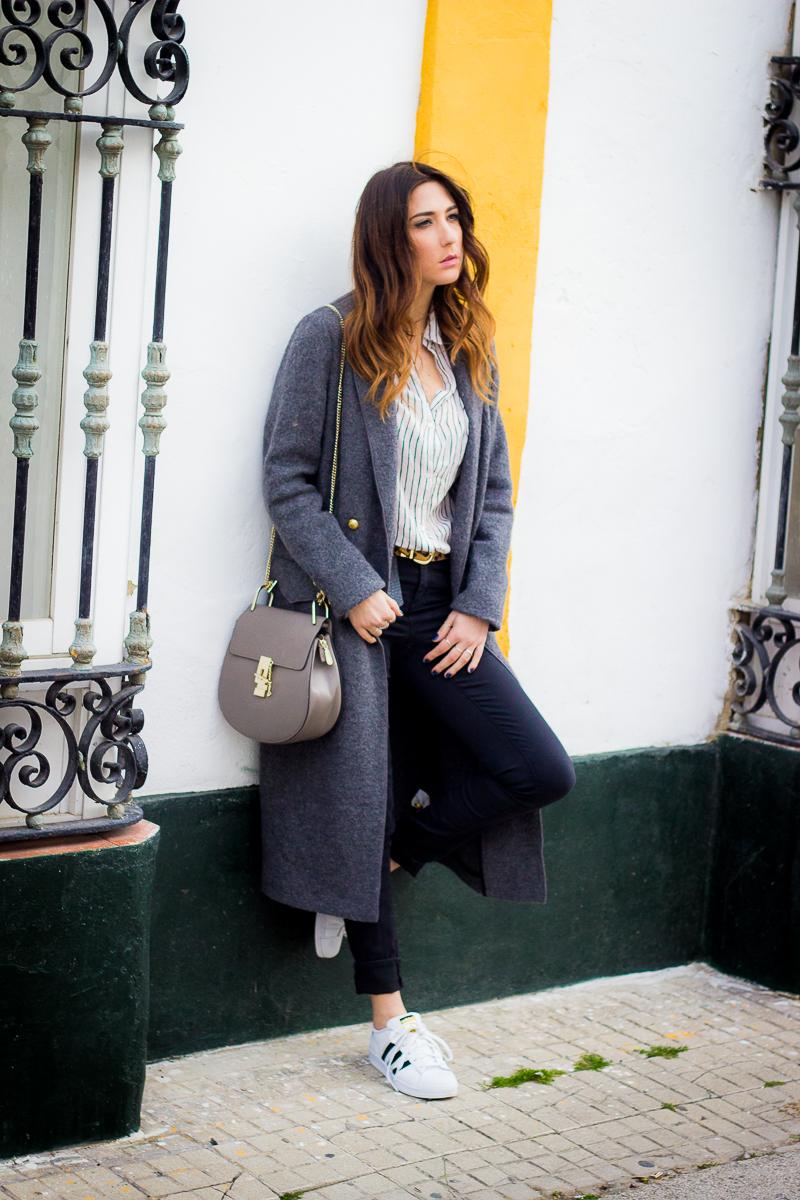 maxi abrigo gris