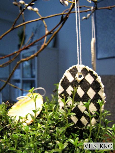 pääsiäiskoristeet taikataikinasta