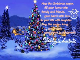 Kartu Ucapan Natal Merry Christmas 8005