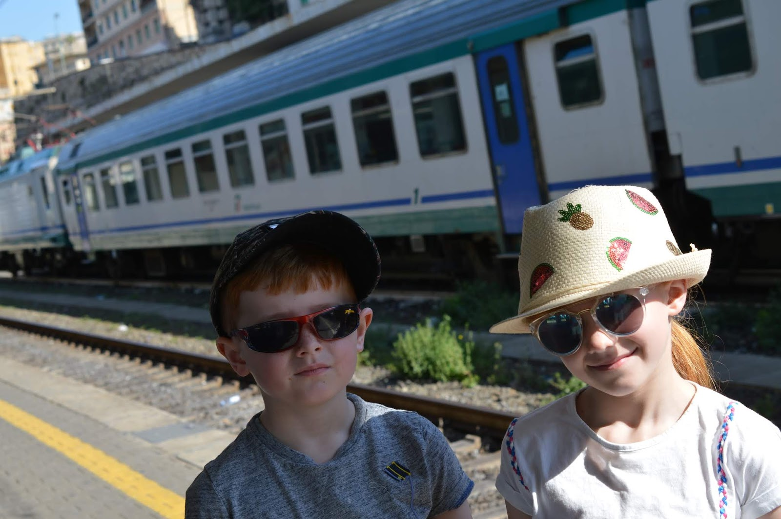 How to spend a weekend in Genoa with kids - catching the train from Genoa to Nervi
