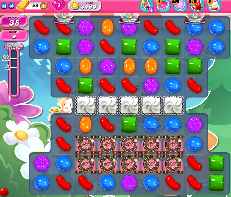 Candy Crush Saga level 2490