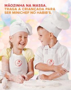 Habib's realiza oficina de culinária para crianças em restaurantes da Grande São Paulo