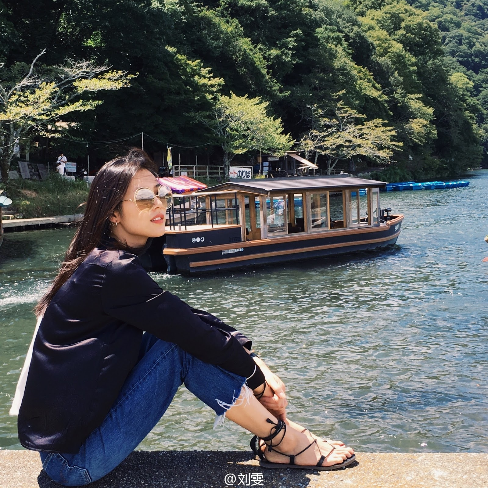 Liu Wen's Classic Vacation Style as She Explores the Mountains