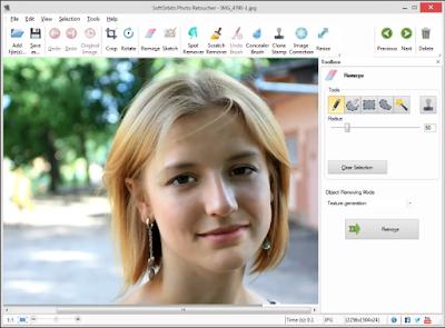Screenshot Soft Orbits Photo Retoucher 4.1 Portable