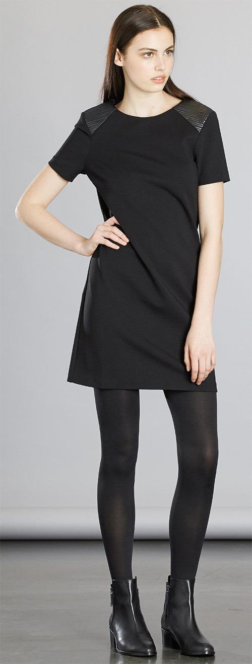 Robe courte noire en Jersey Zapa