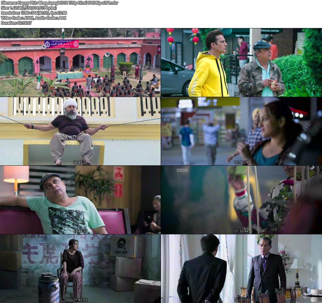 Happy Phirr Bhag Jayegi 2018 720p Hindi DVDRip   480p 300MB   100MB HEVC Screenshot