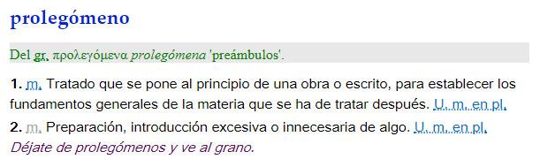 Prolegómeno - definición