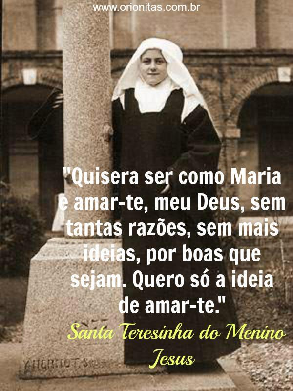 Well Known Frases De Santa Terezinha Do Menino Jesus Zf11 Ivango