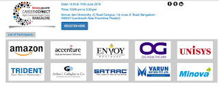 Ascent Job Fair 2016 at Jain University, Bangalore on 18th & 19th June 2016
