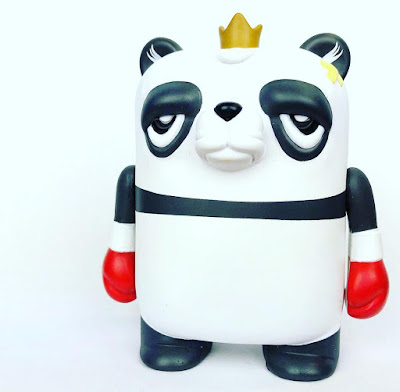"The Bearchamp Panda Edition 4"" Vinyl Figure by JC Rivera x UVD Toys"