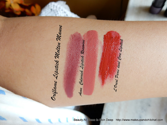 Lip products swatches