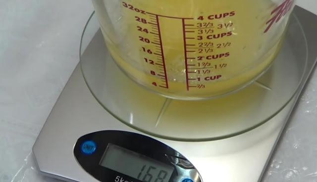 Pesamos el zumo de naranja