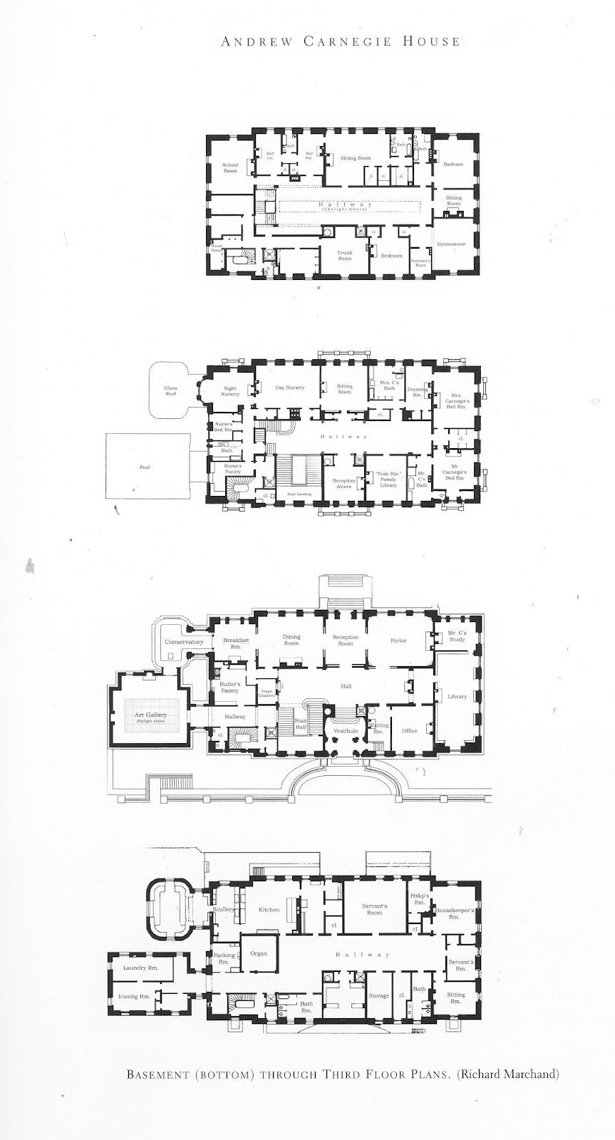 The gilded age era andrew carnegie 39 s fifth avenue palace for Palace floor plans
