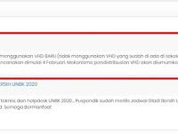 Distribusi VHD Gladi Bersih UNBK Tahun 2020