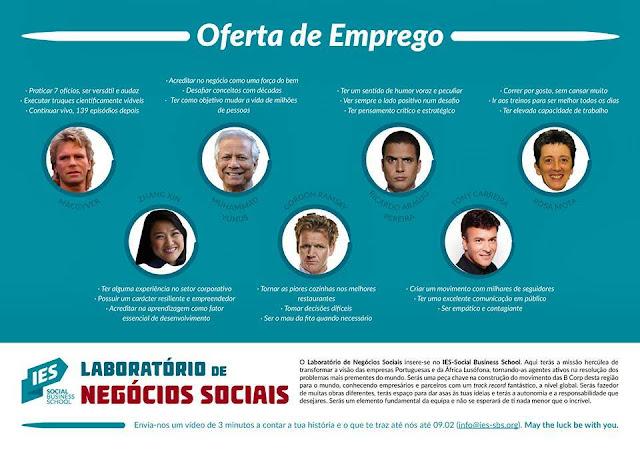 Emprego para Consultor de Negócios Sociais