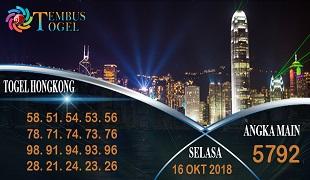 Prediksi Angka Togel Hongkong Selasa 16 Oktober 2018