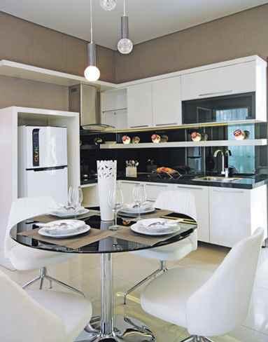 Ruangan Dapur tema minimalis rumah mewah