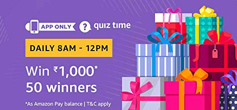 Amazon Quiz 8 February 2019 Answers – Win 1000 Balance