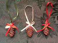 Sparkling Pinecone Ornaments