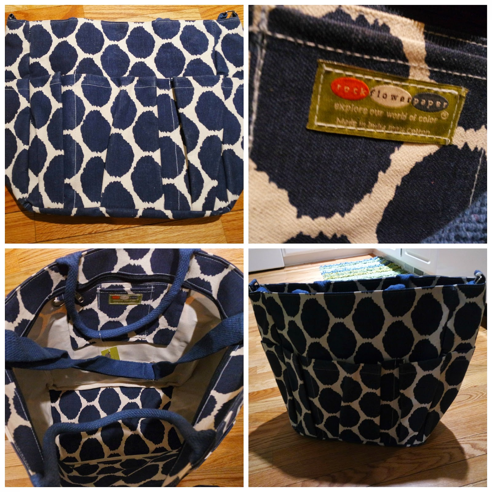 Weekender Travel Bag Navy Blue and White Uzbek Cotton Canvas