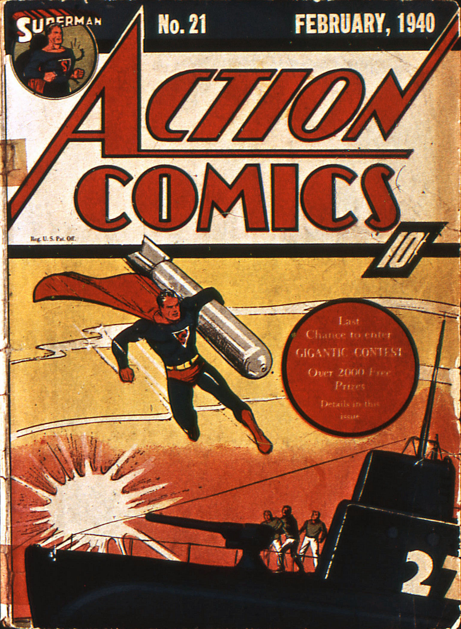 Read online Action Comics (1938) comic -  Issue #21 - 1