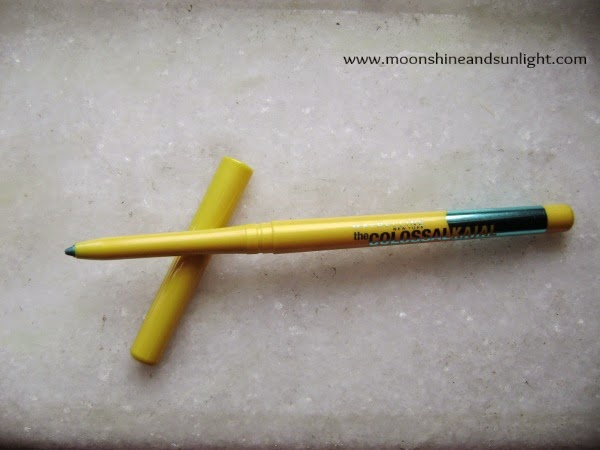 Maybelline NewYork Colossal Kohl in turquoise Review,price in India and Swatches