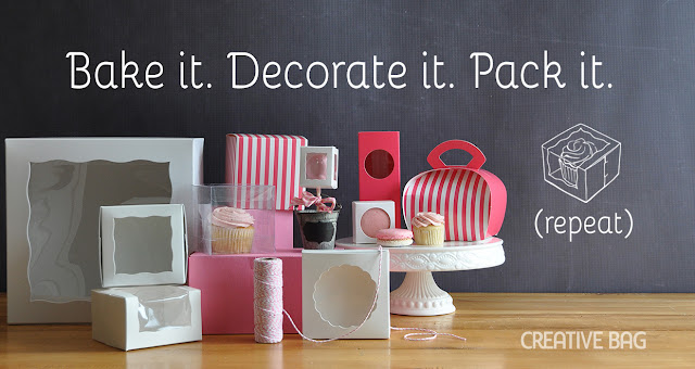 Bake it. Decorate it. Pack it. (repeat) ... bakery packaging supplies from creativebag.com