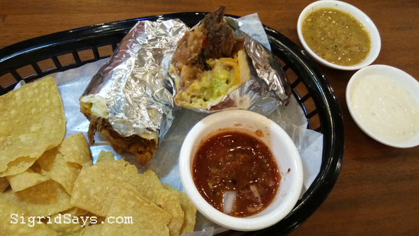 Mexicali burritos - Bacolod restaurant
