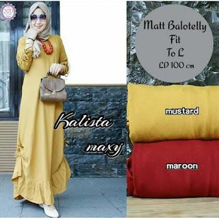 Jual Baju Busana Muslim Dress Kalista Maxi