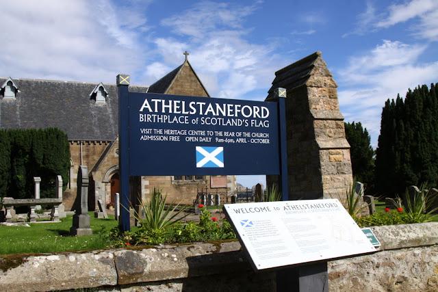 szkocka flaga, miejsce narodzin szkockiej flagi
