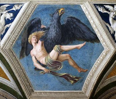 Baldassare Peruzzi, El rapto de Ganimedes (h. 1510), Villa Farnesina, Roma