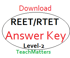 image :REET Social Science Answer Key 2018 Level-2 @ TeachMatters
