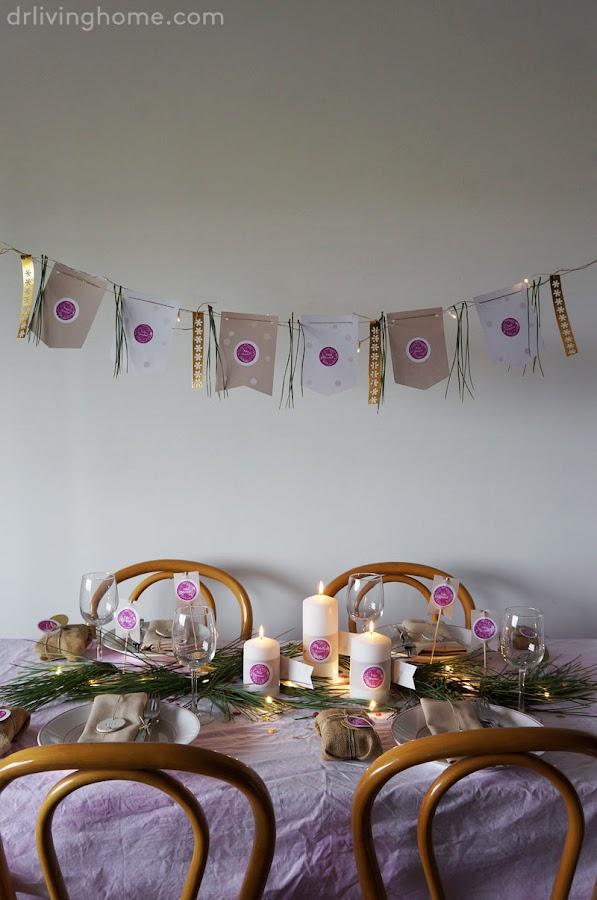 Cómo decorar una mesa para Navidad con estilo rústico