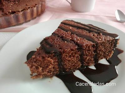 Pastel de chocolate al Whisky con almendras