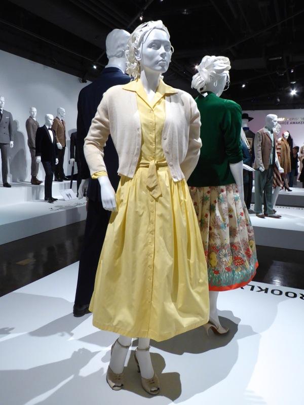 Saoirse Ronan yellow 1950s dress Brooklyn