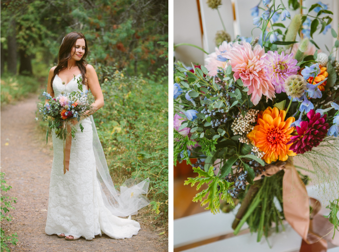 Glacier Wedding Flowers by Katalin Green / Jacilyn M. Photography