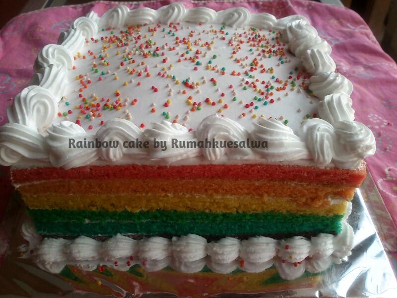 Rainbow Cake Recipe Joy Of Baking: Rumah Kue Salwa: My First Rainbow Cake