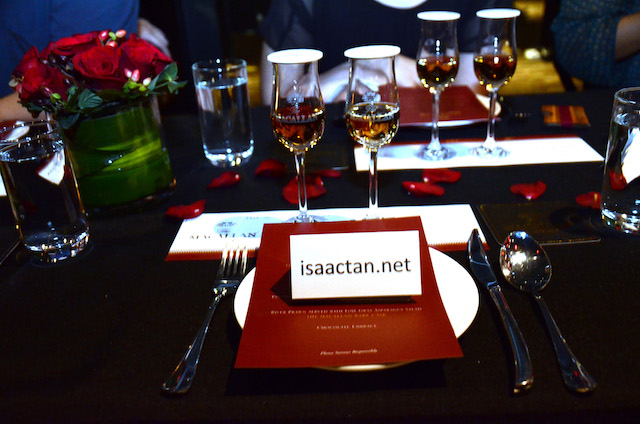 Food pairing in progress during the launch