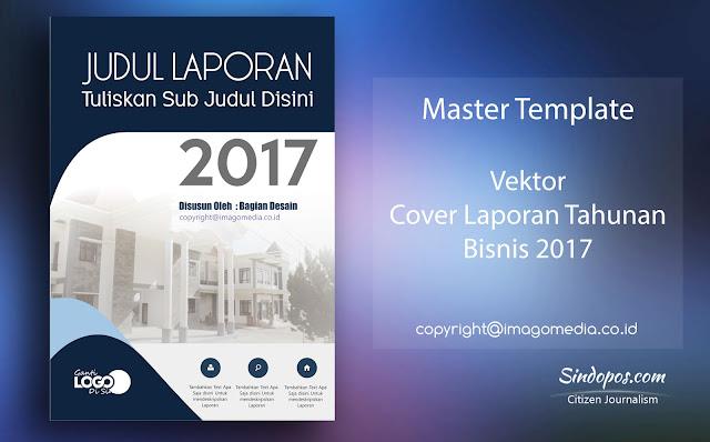 Download Template Desain Cover Laporan Tahunan Bisnis 2017