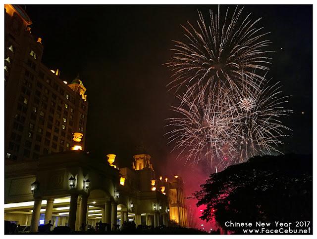 Grand fireworks display at the main entrance