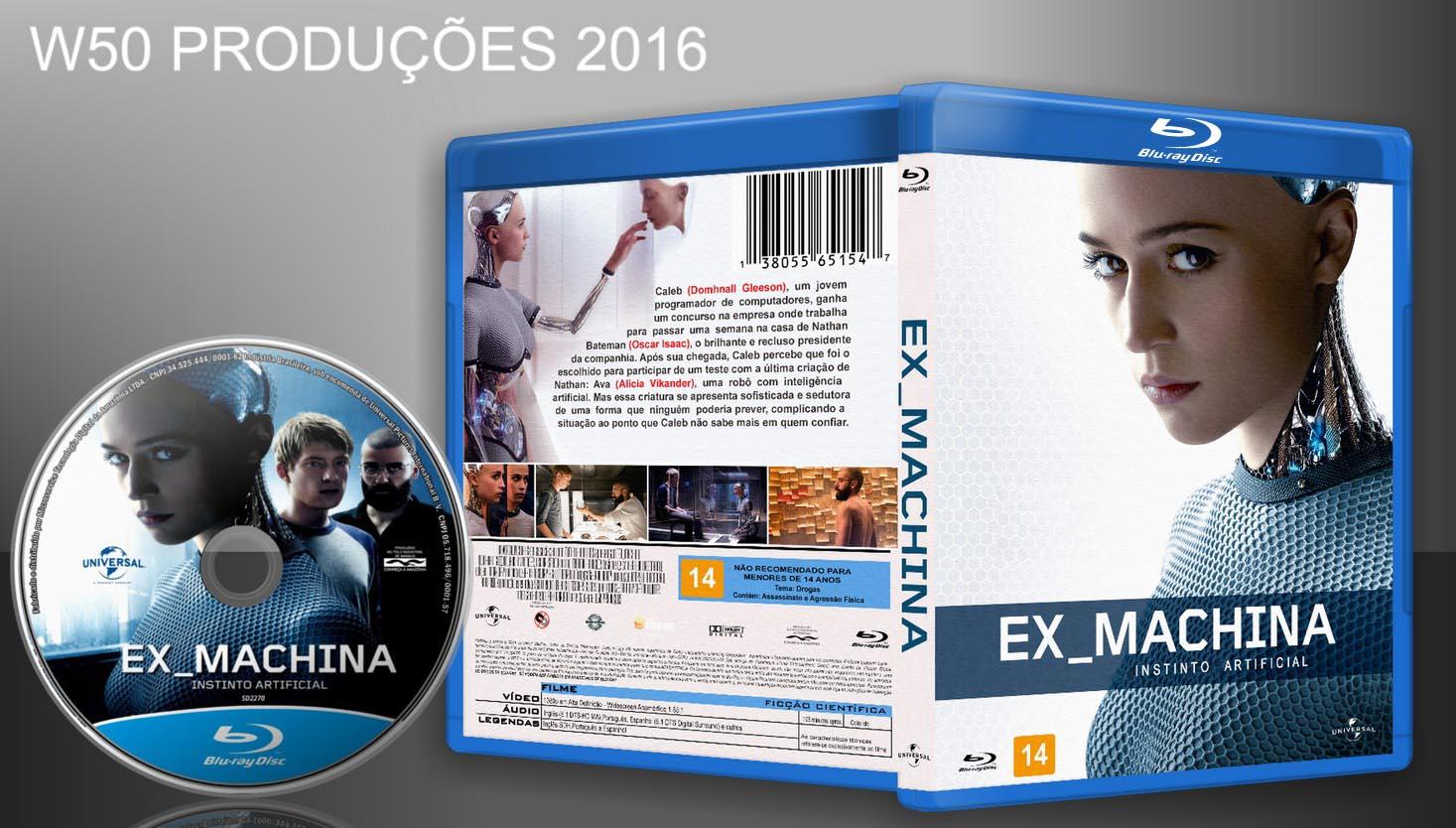 w50 produ es cds dvds blu ray ex machina blu ray lan amento 2016. Black Bedroom Furniture Sets. Home Design Ideas