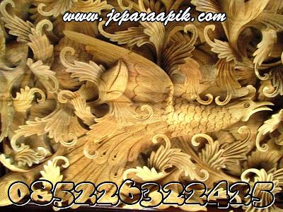 ukiran burung cendrawasih khas jepara