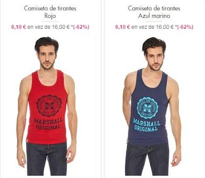 camisetas tirantes rojo y azul