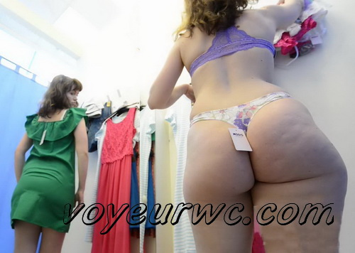 SpyCam 2191-2205 (Shopping Mall changing room. Hidden cam - pretty girls dress up)