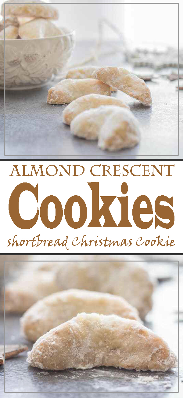 Almond Crescent Cookies Shortbread Type Christmas Cookie Very