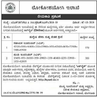 KPWD Notification 2019 Civil Assistant Engineer, Civil Junior Engineer Latest Govt Jobs Recruitment Apply Online