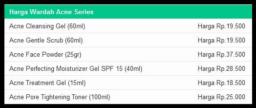 Daftar harga terbaru produk bedak Wardah 2016