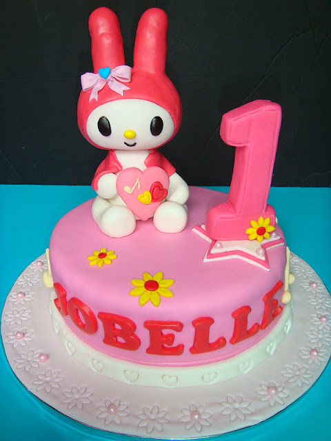 Yummy Baking My Melody Fondant Cake