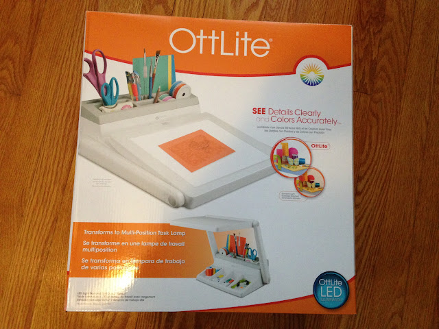 Ottlite light box, weeding, vinyl